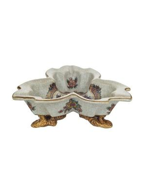 Менажница керам.на ножках Elff Ceramics. Цвет: золотистый