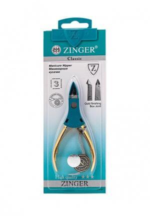 Щипчики для маникюра Zinger. Цвет: золотой