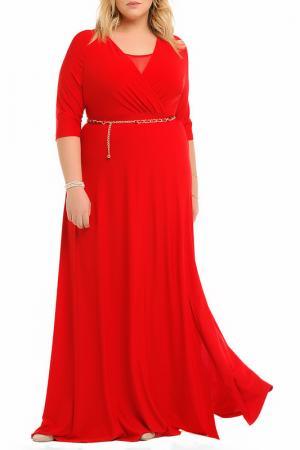 Платье и пояс Svesta. Цвет: красный