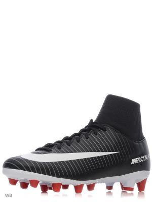 Бутсы MERCURIAL VICTORY VI DF AGPRO Nike. Цвет: черный, красный, темно-серый