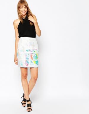 Suboo Шелковистая юбка с цветочным принтом Pop. Цвет: мульти