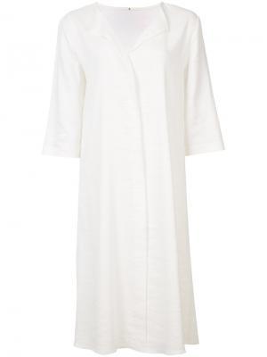 Платье-рубашка Peter Cohen. Цвет: белый