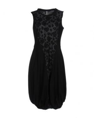 Платье до колена HIGH. Цвет: черный
