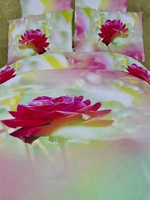 Постельное белье Buenas Noches. Цвет: салатовый, бледно-розовый, розовый
