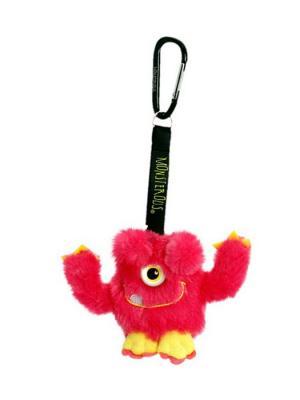 Игрушка мяг MONSTEROUS Мишка Брелок 8см Склад Уникальных Товаров. Цвет: малиновый