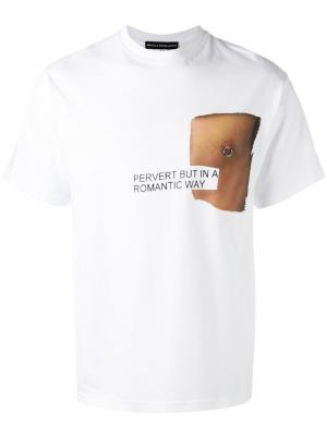 Piercing T-shirt Nicola Indelicato. Цвет: белый