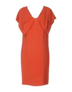 Короткое платье AQUILANO-RIMONDI. Цвет: ржаво-коричневый