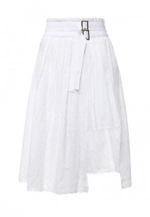 Юбка Liu Jo Jeans. Цвет: белый