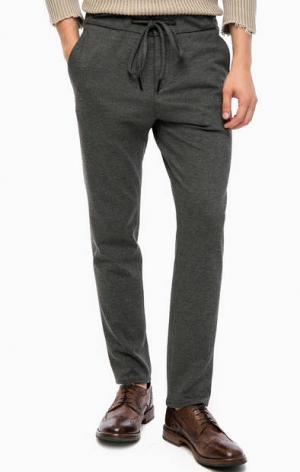 Серые брюки с четырьмя карманами DRYKORN. Цвет: серый