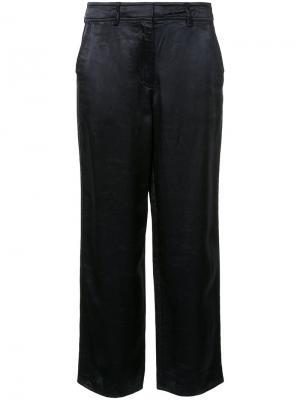 Выбеленные прямые брюки Blake Sies Marjan. Цвет: синий