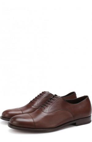Классические кожаные оксфорды Fratelli Rossetti. Цвет: коричневый
