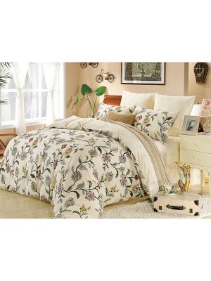 Комплект постельного белья, Энзо , Евро KAZANOV.A.. Цвет: молочный
