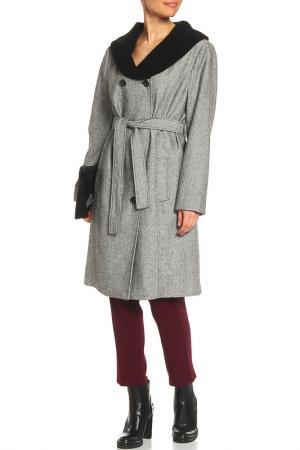 Пальто шерстяное La Reine Blanche. Цвет: черный