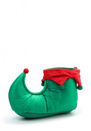 Тапочки Loungeable. Цвет: зеленый