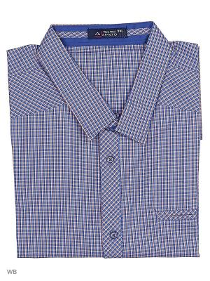 Рубашка AMATO. Цвет: фиолетовый, оранжевый