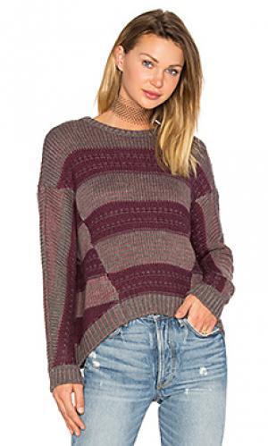 Пуловер syrah LA Made. Цвет: вишня