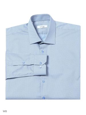 Рубашка lawiggi. Цвет: серо-голубой