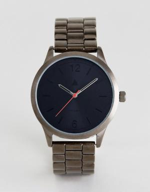 ASOS Наручные часы цвета пушечной бронзы с красной стрелкой. Цвет: серебряный
