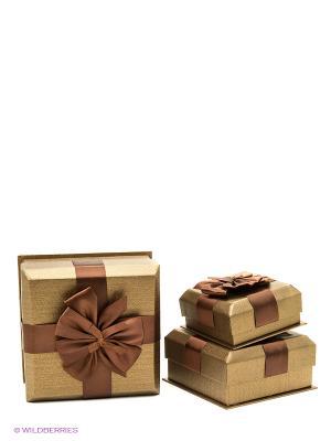 Коробка картоннная набор из 3 VELD-CO. Цвет: коричневый