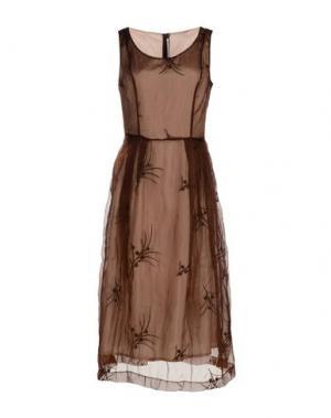 Платье длиной 3/4 MAISON LAVINIATURRA. Цвет: какао
