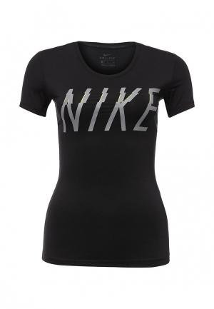 Футболка спортивная Nike. Цвет: черный