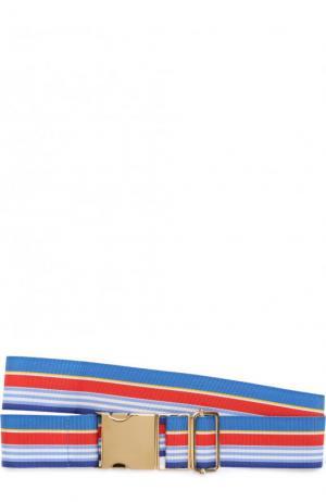 Эластичный пояс в полоску Stella Jean. Цвет: синий