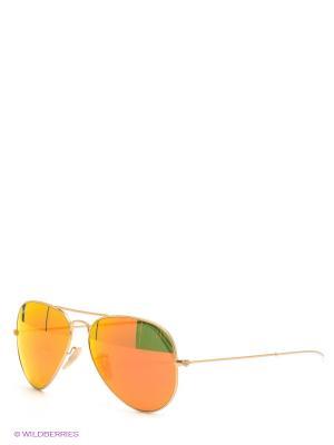 Очки солнцезащитные Ray Ban. Цвет: золотистый, оранжевый