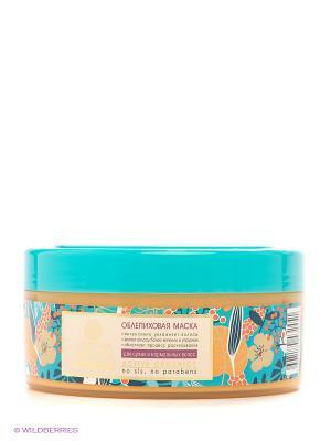 Маска облепиховая для сухих нормальных волос Natura Siberica. Цвет: голубой, оранжевый