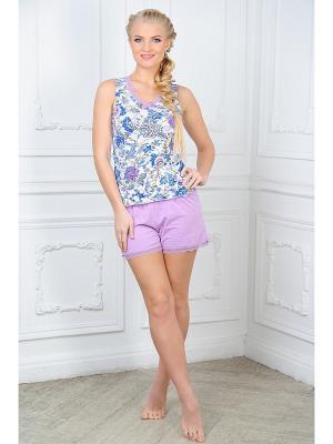 Пижама Mia Cara. Цвет: сиреневый