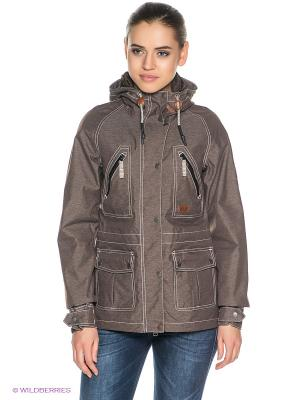 Куртка KATORO TEXAPORE JKT W Jack Wolfskin. Цвет: коричневый