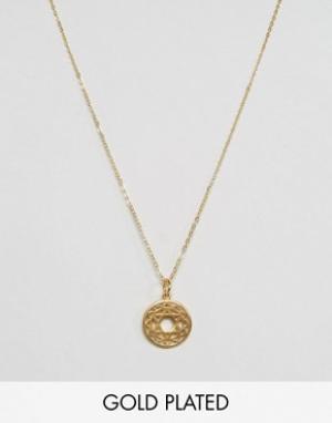 Ottoman Hands Ожерелье с символом сердечной чакры. Цвет: золотой
