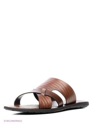 Шлепанцы Mario Ponti. Цвет: коричневый