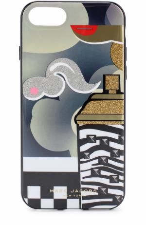 Чехол для iPhone 7 с принтом Marc Jacobs. Цвет: черный