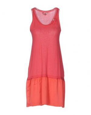 Короткое платье REBEL QUEEN. Цвет: коралловый