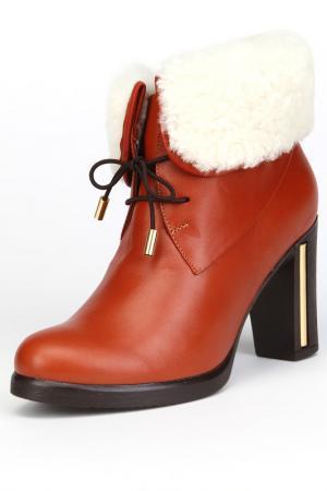 Ботинки утепленные, байка OSSO. Цвет: красный