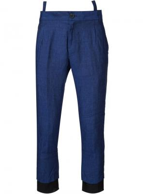 Укороченные брюки Ewodi Haider Ackermann. Цвет: синий