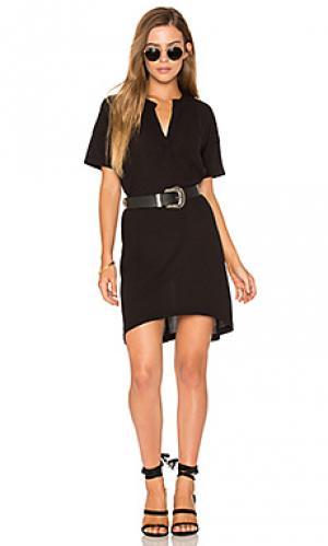 Платье-рубашка с коротким рукавом Stateside. Цвет: черный