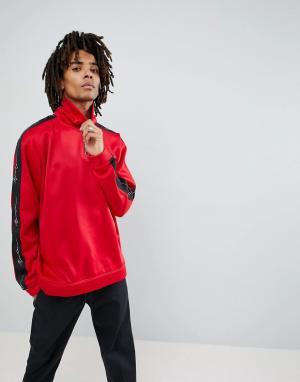 Mennace Спортивная куртка с короткой молнией. Цвет: красный