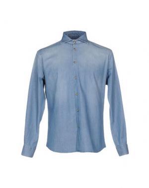 Джинсовая рубашка FRADI. Цвет: синий