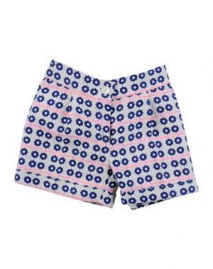 Повседневные шорты LA STUPENDERIA. Цвет: синий
