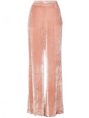 Бархатистые брюки-палаццо Alice+Olivia. Цвет: телесный