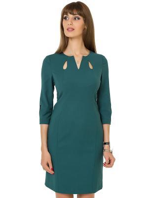Платье KEY FASHION. Цвет: зеленый