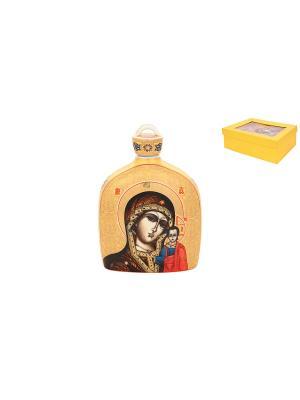 Сосуд для святой воды Казанская Божья Матерь Elan Gallery. Цвет: золотистый, коричневый, красный