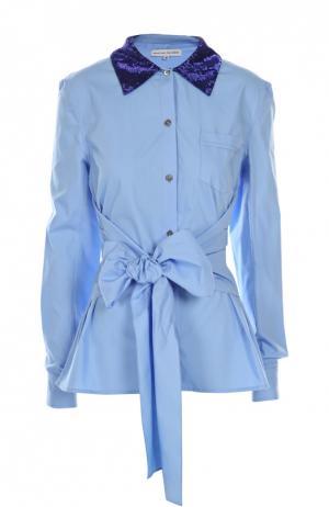 Блуза Jonathan Saunders. Цвет: голубой