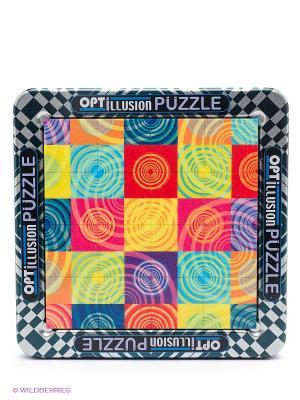 3D пазл Иллюзии в движении Круги Magna Puzzle. Цвет: красный, голубой, желтый