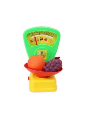 Игрушечные весы для сюжетно-ролевой игры Магазин Огонек. Цвет: зеленый, желтый, красный