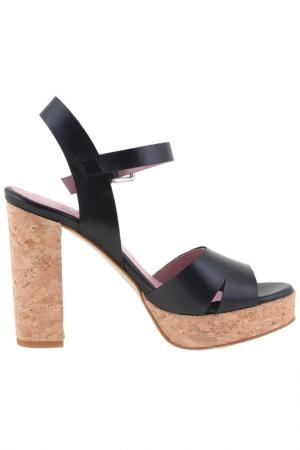 High heels sandals Sessa. Цвет: black