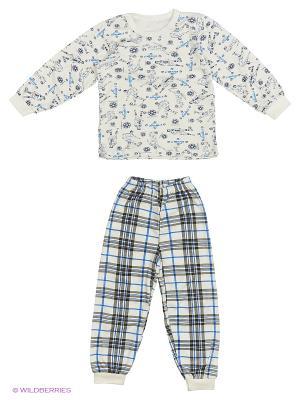 Пижама Babycollection. Цвет: белый, серый