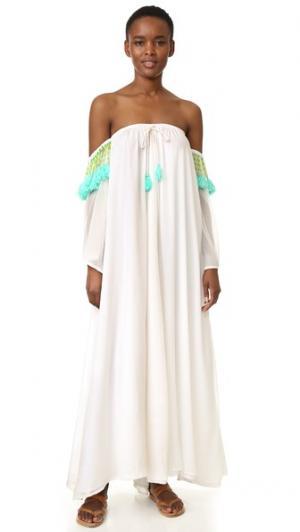 Макси-платье Venus SUNDRESS. Цвет: белый/бирюзовый