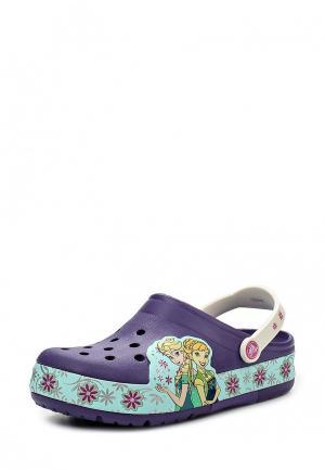 Сабо Crocs. Цвет: фиолетовый